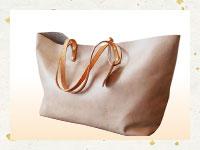 買取金額-牛革 ハンドメイド シンプルトートバッグ