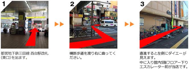 買取のたくみや 東京 西台店へのアクセス