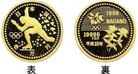 1万円金貨【長野五輪冬季大会記念金貨】