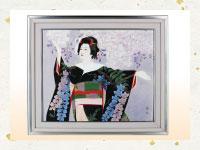 買取実績-日本画 横田忠之 美人画写実傑作 15号 舞妓