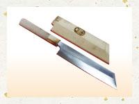 買取実績-本焼 剥き物包丁 堺刀司岩国作 六寸 水牛角巻柄